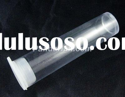 Clear Tube plastic Beads Containers With Lid, Packaging, 18mm wide, 70mm long.(C069Y)