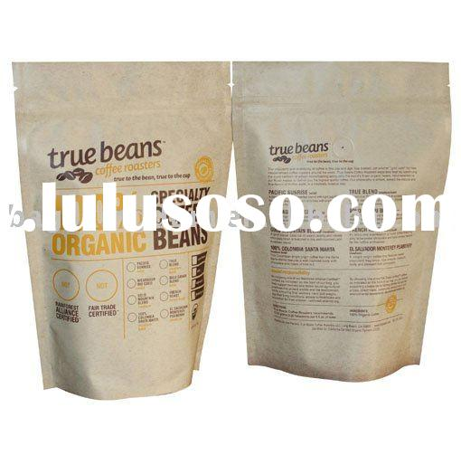 Coffee bean stand up bags with zipper -matte print