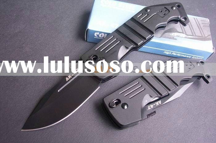 Cold AK-47 Axes lock Folding Knife, Pocket camping knife,Survival outdoor knives