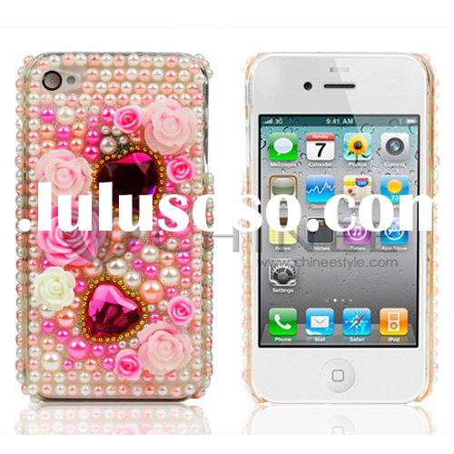 Crystal case with jewelry seal for iphone 4G