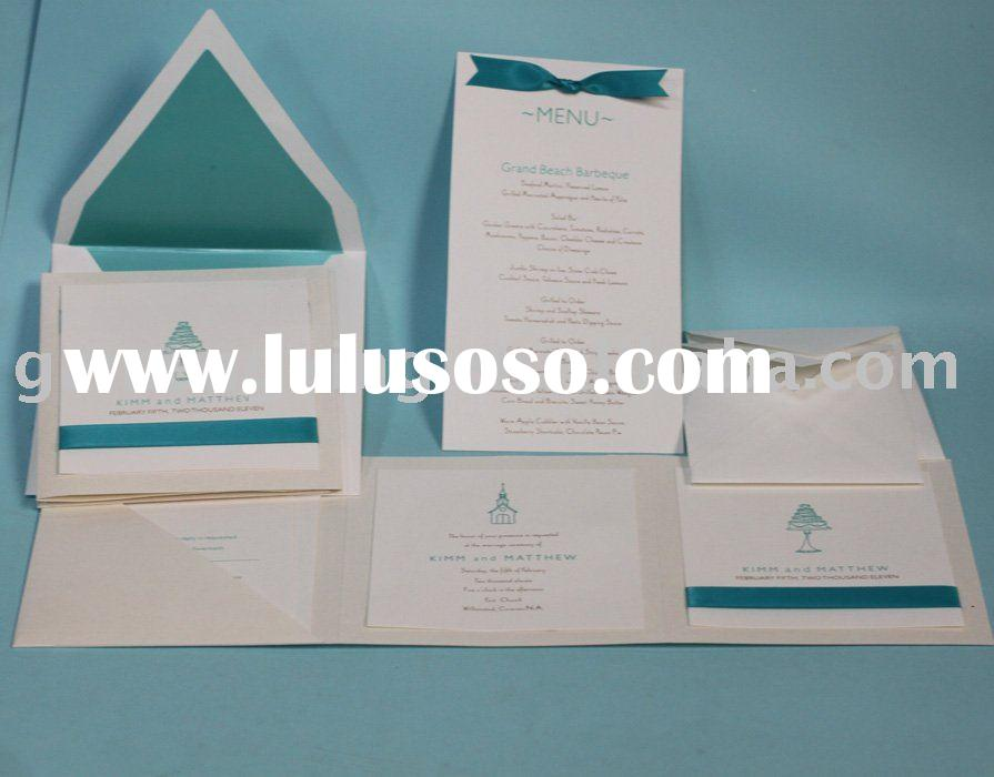 Customized wedding stationery in tiffany blue-----PA090