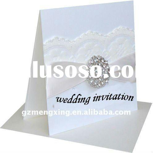 DIY Wedding Invitations Embellish With Lace And Brooch -----EA119
