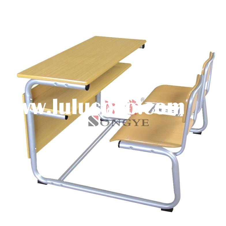 Detachable Double Student Desk & Chair,School Furniture