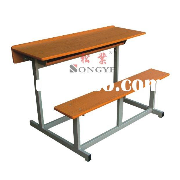 Double-Student Desk & Chair,School Furniture