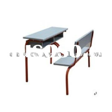 Durable antique school desk with bench