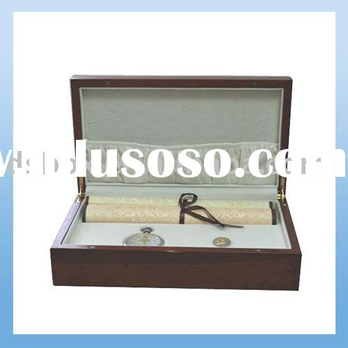 ELEGANT WOOD WATCH CLOCK GIFT BOX DISPLAY CASE