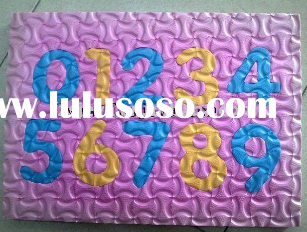 EVA playing toy mat/ eva numbers puzzle playing mat/ toy puzzle mat
