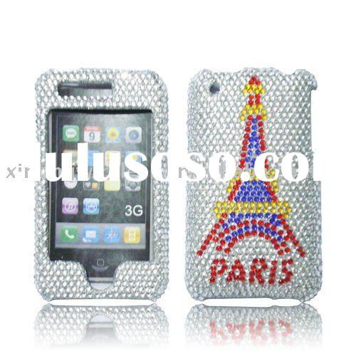Eiffel Tower Design Diamond Case for iPhone 3G