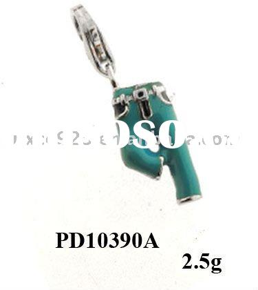 Enamel trousers charms,factory direct sale 925 sterling silver jewelry
