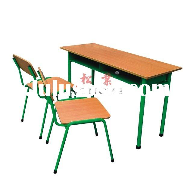 FT-105 ,Double Student Desk & Chair,School Furniture