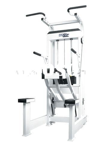 step downs on assisted dip machine