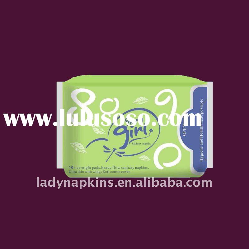 Feminine hygiene ultra thin whisper sanitary pads with strong absorbency and free of leakage