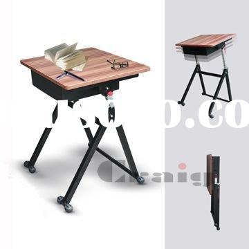 Folding School Desk With Height Adjustable