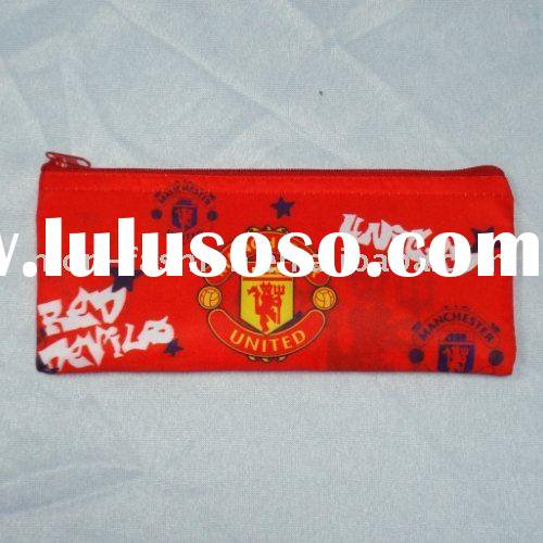 Football pencil case/soccer pencil case/football club fabric pencil bag/football souvenirs/promotion