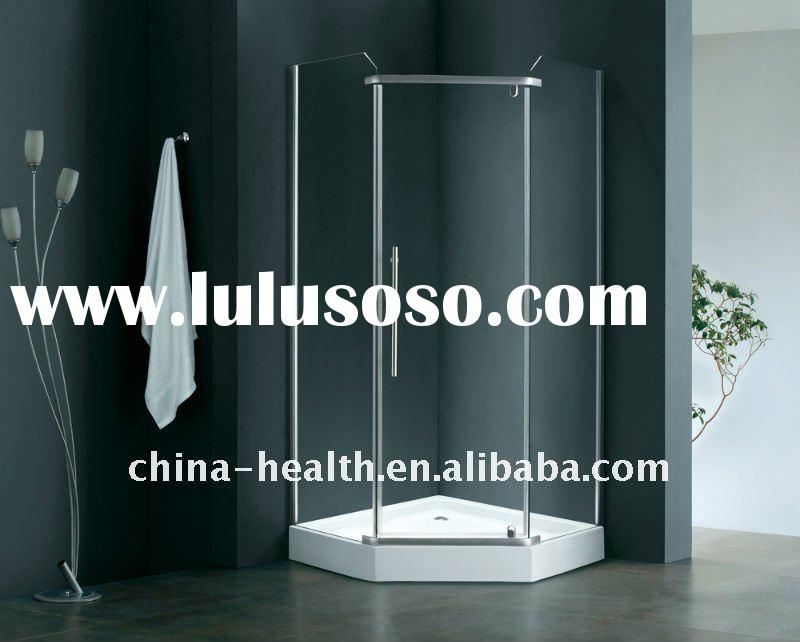 Frameless pivot shower doors