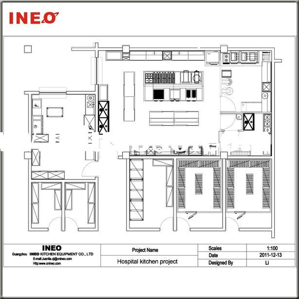 Ineo design and sell all equipments for restaurant and hotel Restaurant kitchen layout design software