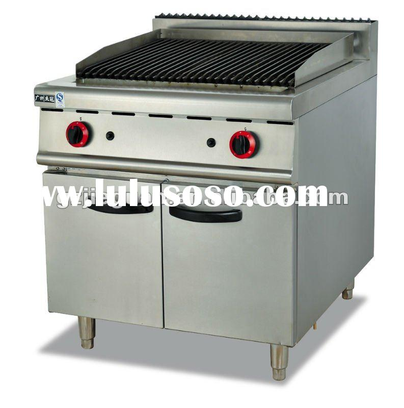 Free Standing Stainless Steel Gas Grill with Cabinet - Restaurant Equipment