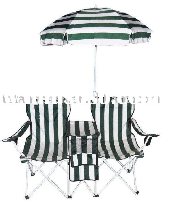Garden furniture set - chair and table with an umbrella