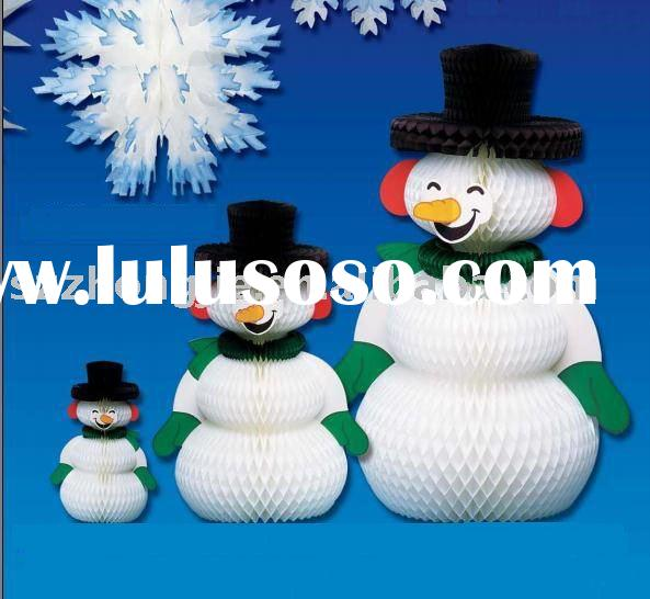 HOneycomb snowman decoration,Christmas supplies, paper goods