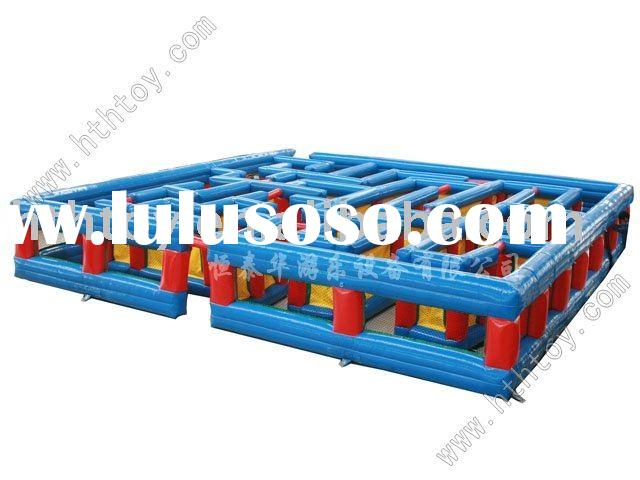 HTH large olympic games for kids infalatable bounce house maze---022606