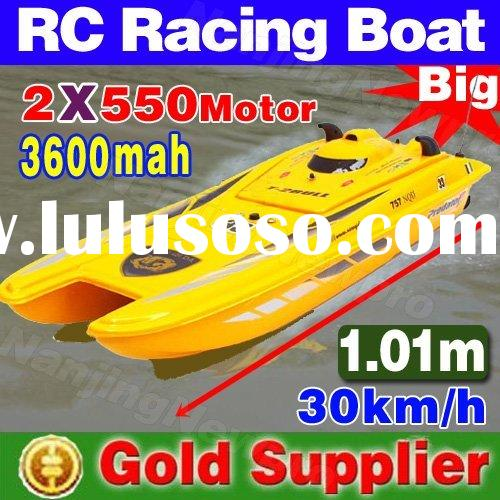 High speed ! 101 cm 3 ch 1:14 rc boat remote control RC racing speed boat equipped with twin 550 mot
