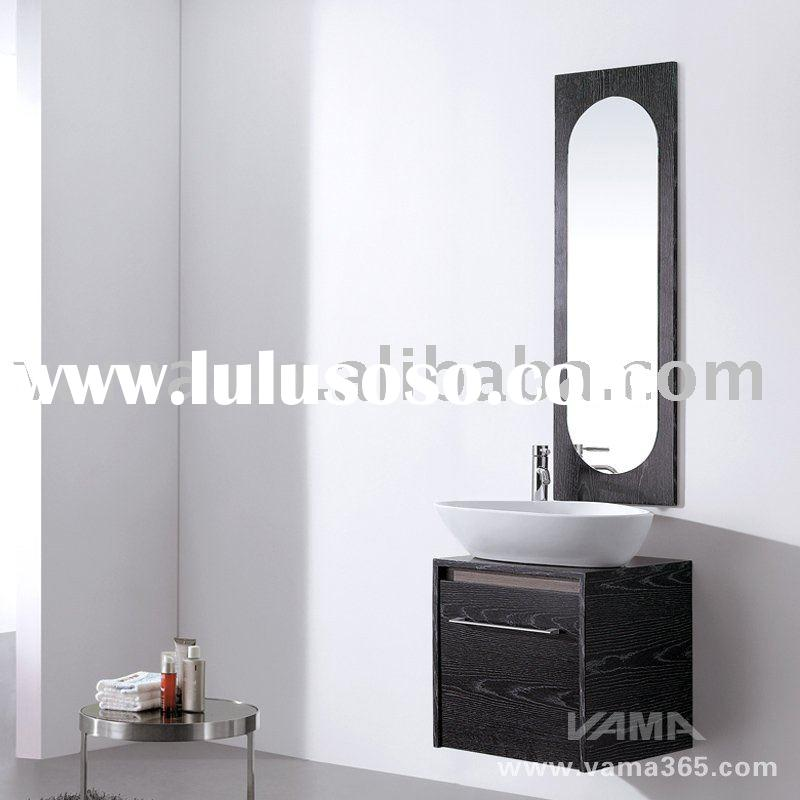 Hot sell Small size wooden mirror basin cabinet/modern bathroom furniture vanity cabinet/washing bat