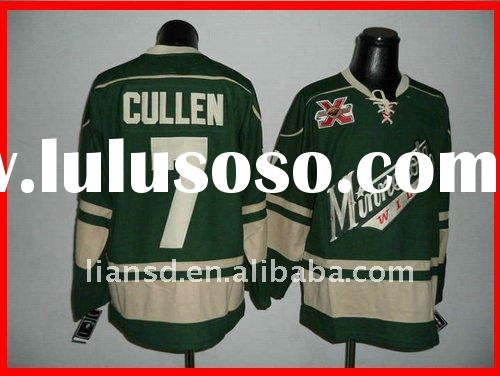 Ice Hockey jersey Wild 7 Matt Cullen Green name and number are sewn on custom jersey accept paypal