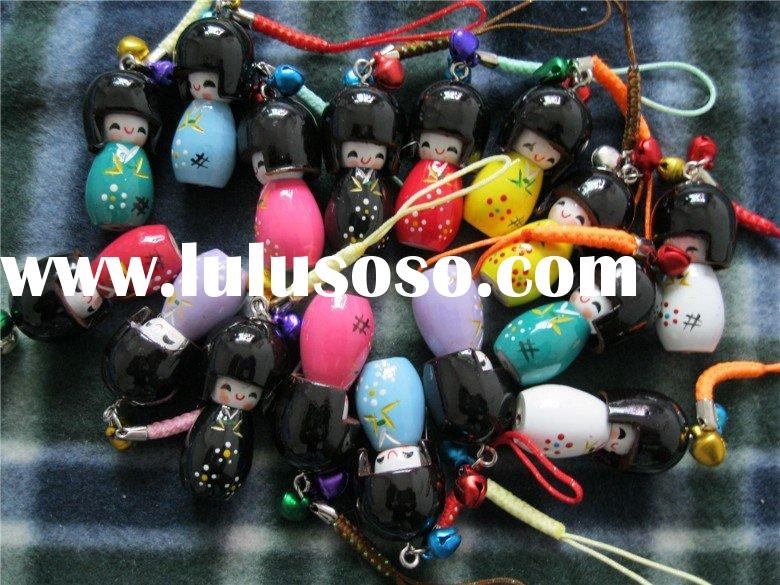 Japanese KOKESHI cell phone straps cell phone charms Accept PayPal