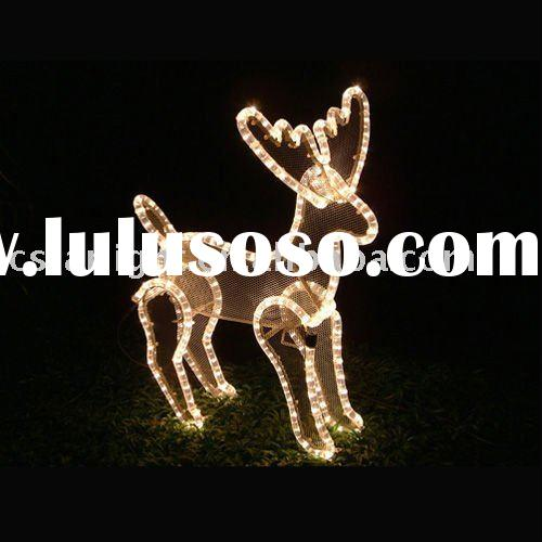 LED Clear Rope Light Reindeer Motif Light