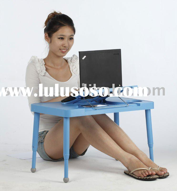 Laptop desk with anti-radiation & two USB fans as cooling pad