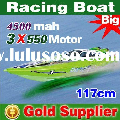 Large size 117 cm 1:14 3 ch rc racing boat remote radio control speed boat r/c boat with 3 motors an