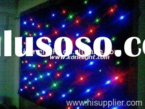 Led star curtain, wedding decoration, backdrop light,led curtain wall light
