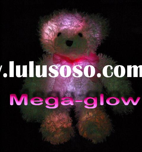 Light up Teddy Bear Plush Toy, Rainbow Cute Plush Bear toy