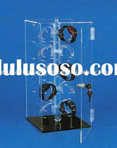 Locking Acrylic Watch Display With Rotating base
