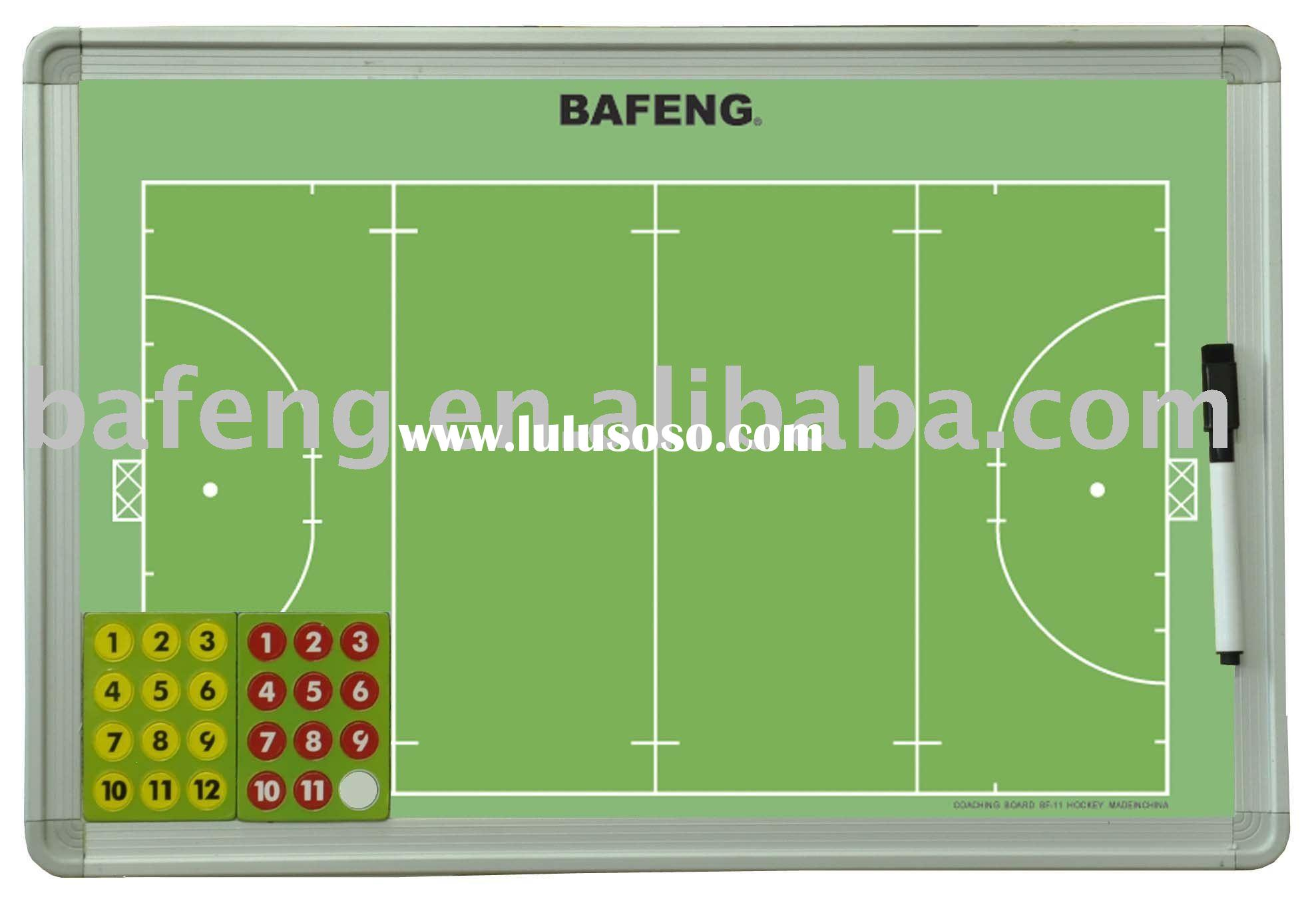 Magnetic strategy board for field hockey in training and teaching