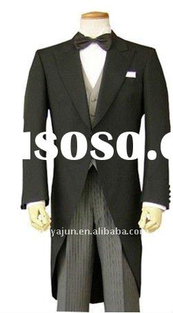Men's black morning suits for wedding wear