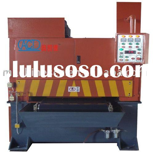 Metal belt grinding polishing machines for Oxide removal on laser-cutting steel parts or sheets