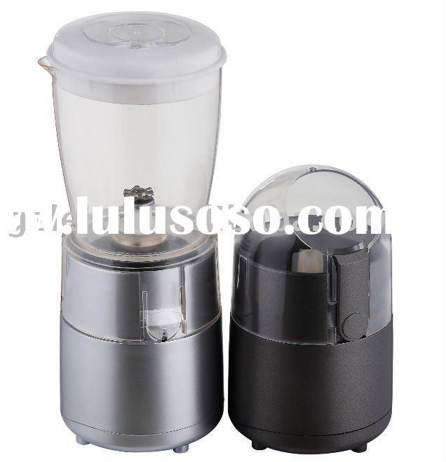Mini milk frother, with coffee grinder
