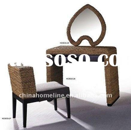 Modern Rattan Dressing Table And Chair 61743