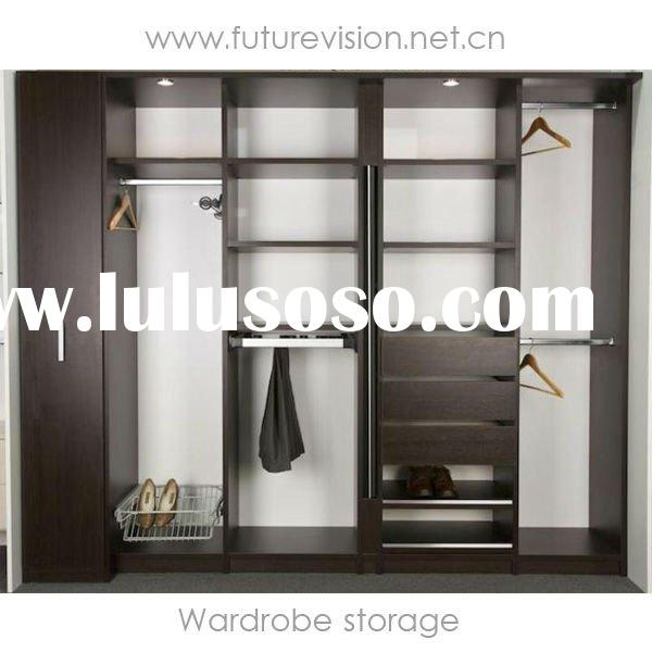 Modern Sliding Door Bedroom Wardrobe Storage Design (EL-335W)