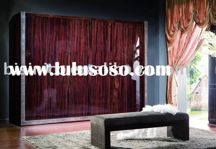 Modern and solid wood six door wardrobe,closet,bed bench,bedroom sets,bedroom furniture
