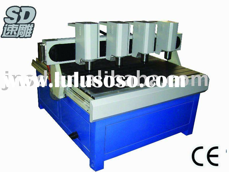 Multi-head wood cnc router machine of engraving