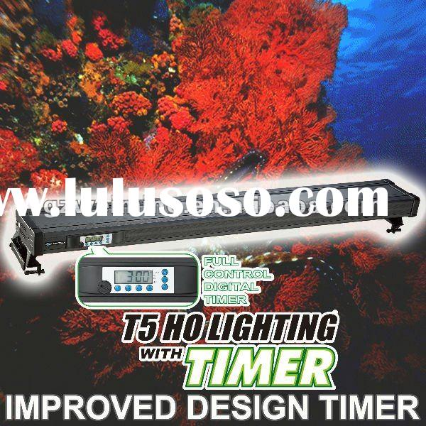 "ODYSSEA 48""120cm) T5HO 3Lamps Aquarium lighting Fish Tank lamp with Timer, fits Freshwater/Plan"