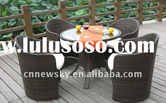OUTDOOR RATTAN WICKER FURNITURE DINING ROOM SETS