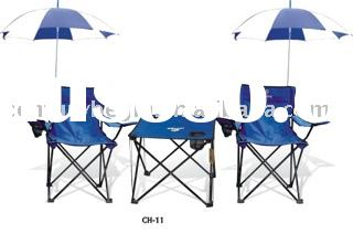 Outdoor chair camping chair beach chair fishing chair Folding chairBeach table&chair(with umbrel