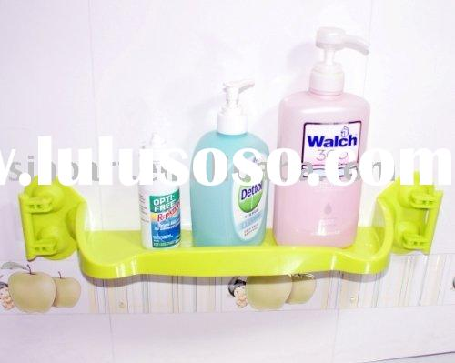 Plastic bathroom holder with suction cup