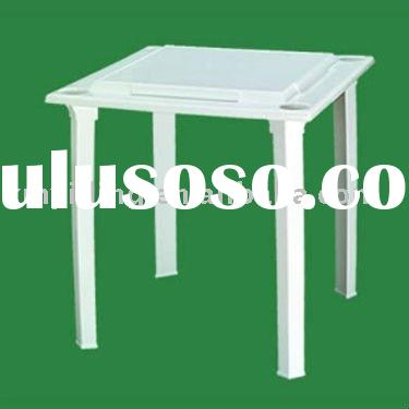 Plastic garden table,Dominoe Table with built in Tile Racks and Drink Holders