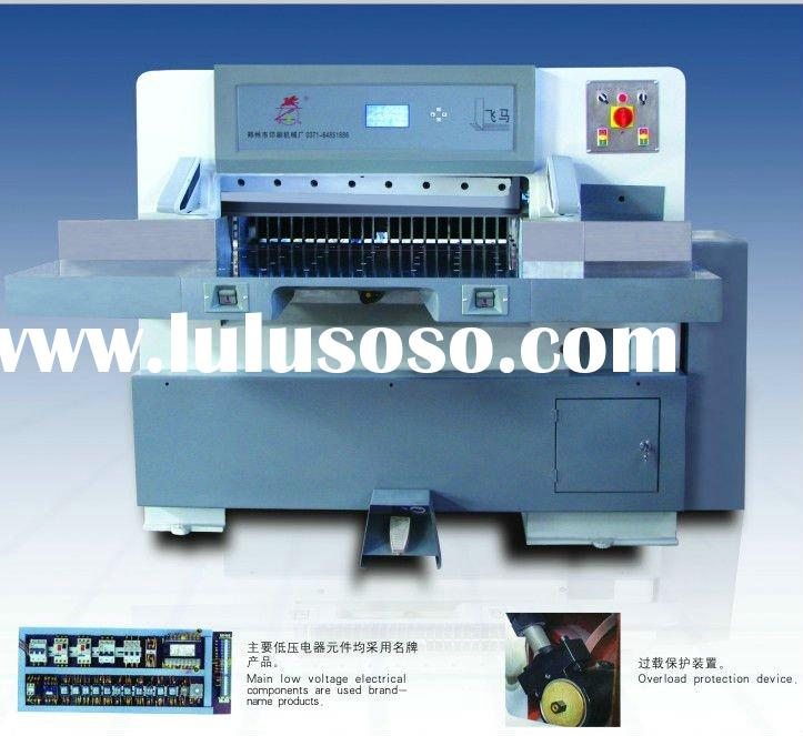 QZYK-1680 hydraulic program control paper shears cutter machine used for paper cup plate bowl barrel