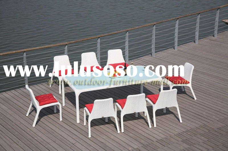 Rattan Furniture 9-Piece Kitchen Dining table Set