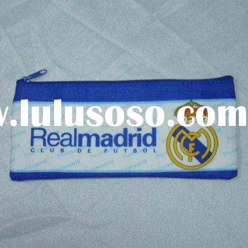Real Madrid FC Football pencil case/soccer pencil case/football club fabric pencil bag